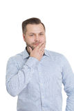 Adult male with a beard.  on white Royalty Free Stock Images