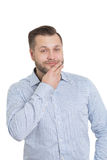 Adult male with a beard.  on white Stock Image