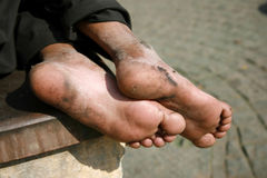 Adult male feet Stock Images