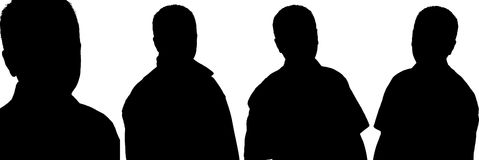 Adult Male Silhouettes -Vector Royalty Free Stock Photos