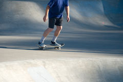 Adult Male Skateboarding at Skate Park v1. (top pit left to right royalty free stock photo