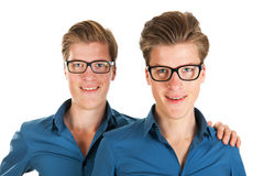 Adult male twins. Identically adult male twins in studio Stock Photos