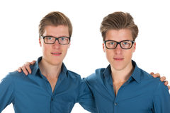 Adult male twins royalty free stock photography