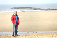 Adult man at the beach Stock Photo