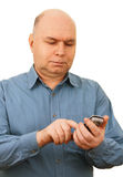 Man with a mobile phone. Royalty Free Stock Image