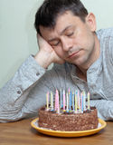 Adult man celebrates a milestone Royalty Free Stock Image