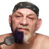 Adult man color beard Stock Image