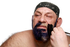 Adult man color beard Stock Images