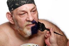 Adult man color beard Royalty Free Stock Photos