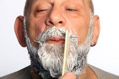 Adult man color beard Royalty Free Stock Image