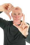Adult man framing Royalty Free Stock Images