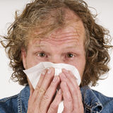 Adult man get sick Stock Image