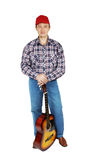 Adult man with a guitar Stock Image