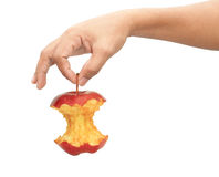 Adult man hand holding apple Royalty Free Stock Photography
