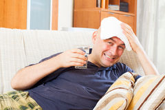 Adult  man having headache Stock Photo