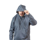Adult man in hoody Royalty Free Stock Photo