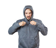 Adult man in hoody Royalty Free Stock Photography