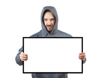 Adult man in hoody Stock Image