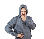 Adult man in hoody Stock Photo