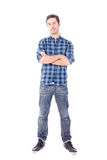 Adult man. Isolated in white Royalty Free Stock Image