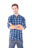 Adult man. Isolated in white Stock Photos