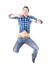 Adult man. Isolated in white Royalty Free Stock Photography