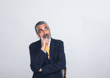 Adult man, mature, in suits. Royalty Free Stock Images