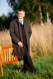 Adult man outdoors Royalty Free Stock Images