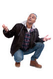 Adult man. Posing in white background Stock Photography