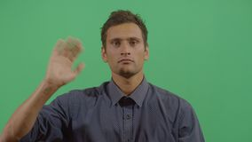 Adult Man Saluting The Viewer. In The Sense Of Good Bye In Ecuador stock video footage