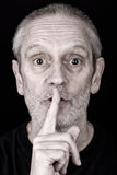 Adult Man Saying Hush Royalty Free Stock Photo
