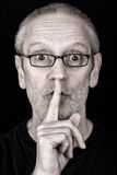 Adult Man Saying Hush Royalty Free Stock Images