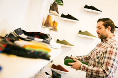 Adult Man Shopping For Shoes Royalty Free Stock Image