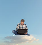 Man using a laptop Royalty Free Stock Photography