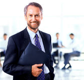 Adult man smiling looking at the camera Royalty Free Stock Photography