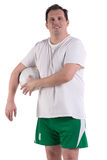 Adult man in sport uniform Royalty Free Stock Photography