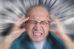Adult man under severe stress Royalty Free Stock Images