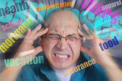 Adult man under severe stress Stock Image