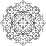 Adult mandala coloring page. Relax and art. stock illustration