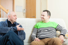 Adult men discussing Royalty Free Stock Image