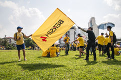 Adult Men Holding Bersih 4 Flag Stock Image