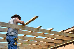Adult middle age man building Royalty Free Stock Images