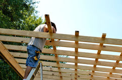 Adult middle age man building Royalty Free Stock Photo