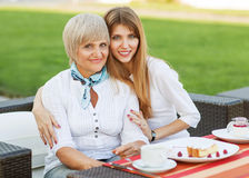 Adult mother and daughter Stock Photography