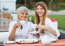Adult mother and daughter Royalty Free Stock Photos