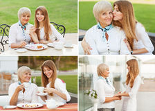 Adult mother and daughter Stock Images