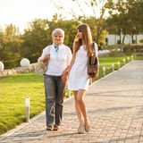 Adult mother and daughter royalty free stock photography