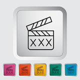 Adult movie clapper Royalty Free Stock Photos
