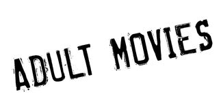 Adult Movies rubber stamp Royalty Free Stock Images
