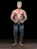 Adult muscleman Stock Images